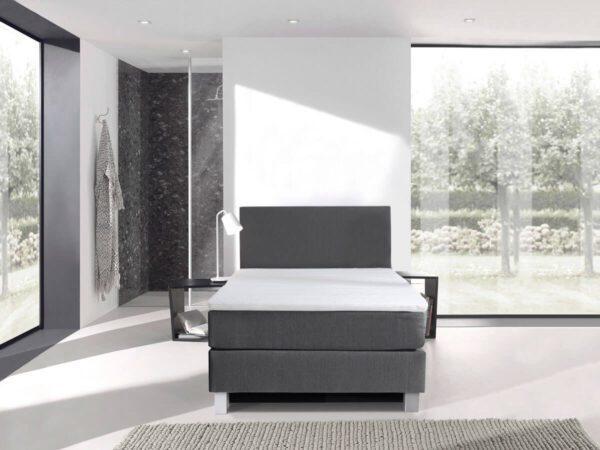 Boxspring bed eenpersoons - antraciet - Comfort 2.0
