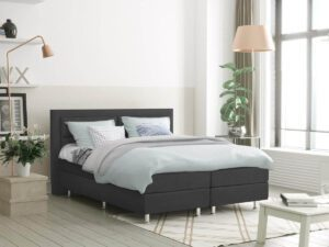 Boxspring bed tweepersoons - antraciet - Detroit