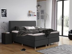 Boxspring bed tweepersoons - antraciet - Montana