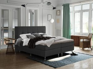 Boxspring bed tweepersoons - antraciet - Oregon