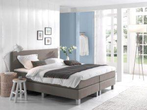 Boxspring bed tweepersoons - beige - Comfort 2.0