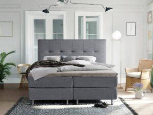Boxspring bed tweepersoons - grijs - Oregon