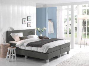 Boxspring bed tweepersoons - grijs - Comfort 2.0