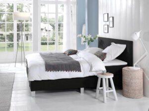 Boxspring bed tweepersoons - zwart - Comfort 2.0