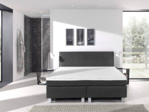 Boxspringbed - antraciet - tweepersoons - Ultra Comfort